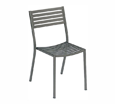 Emuamericas 263 Segno Side Chair, Slatted, Square Tubular Frame, Bronze