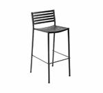 emu 264 Segno Barstool, Slat Seat & Back, Square Frame, Bronze