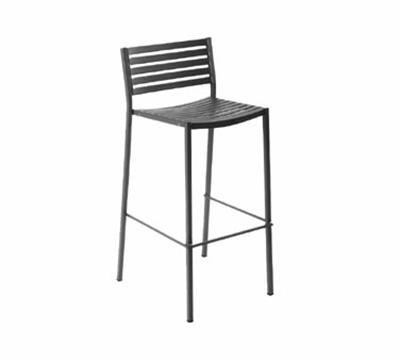 EmuAmericas 264 Segno Barstool, Slat Seat & Back, Square Frame, Bronze