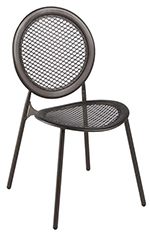 emu 3396 Antonietta Side Chair, Steel Mesh Seat & Back, Bronze