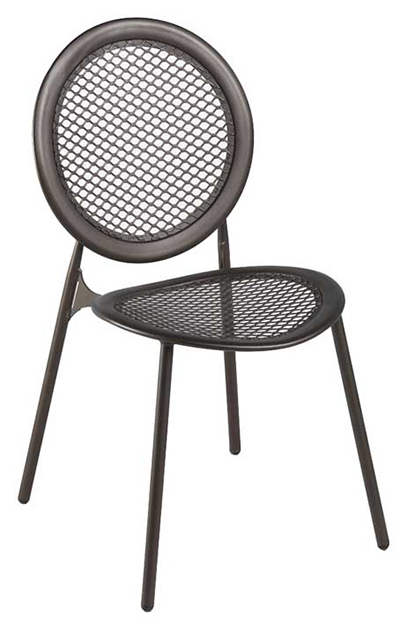 emu 3396 ALU Antonietta Side Chair, Steel Mesh Seat & Back, Aluminum