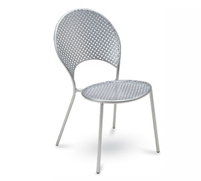 3402 Sole Side Chair Mesh Seat & Back Tubular Frame White Restaurant Supply