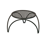 EmuAmericas 3438 Round Vera Stacking Low Table w/ Design Pattern Table Top & Tubular Legs, 18x12-in