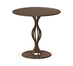 EmuAmericas 3442 Indoor Outdoor Round Vera Table w/ Solid Pedestal & Top, 32x29.5-in, Powder Coated