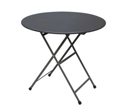 EmuAmericas 346 32-in Round Arc En Ciel Folding Table w/ Mesh Top & Tubular Legs, Powder Coated