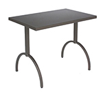 EmuAmericas 3521 ALU ADA Segno Table, 38 W x 23 in D, Square Steel Frame, Aluminum