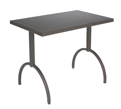 emu 3521 ALU ADA Segno Table, 38 W x 23 in D, Square Steel Frame, Aluminum
