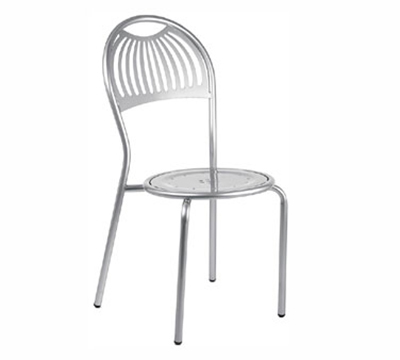 354 Stacking Coupole Side Chair Steel Design Pattern Aluminum Restaurant Supply