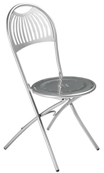 360 Folding Coupole Side Chair Steel Design Pattern Aluminum Restaurant Supply