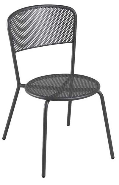 397 Aria Side Chair Steel Mesh Tubular Frame Bronze Restaurant Supply