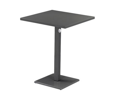"EmuAmericas 473KH 32"" Lock Square Bar Table - Indoor/Outdoor, Steel, Aluminum-Finish"