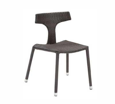 6504 Aria Side Chair Steel Mesh Tubular Frame Greige Restaurant Supply