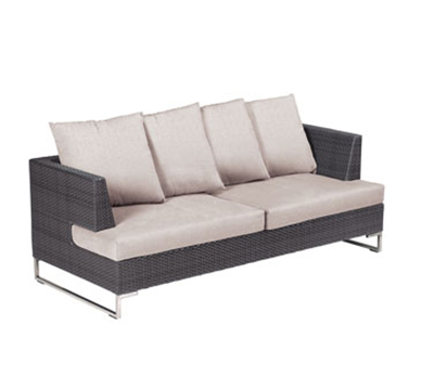 EmuAmericas 6541 Luxor Wicker Outdoor Lounge Sofa - Aluminum/Stainless, Bronze-Finish