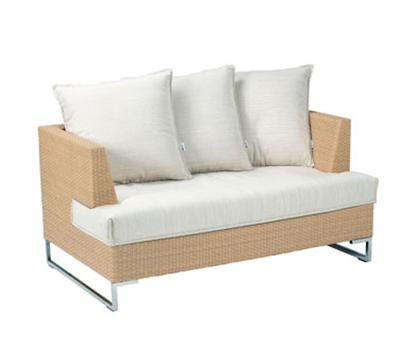 EmuAmericas 6542 Luxor Wicker Outdoor Lounge Loveseat - Aluminum/Stainless, Bronze-Finish