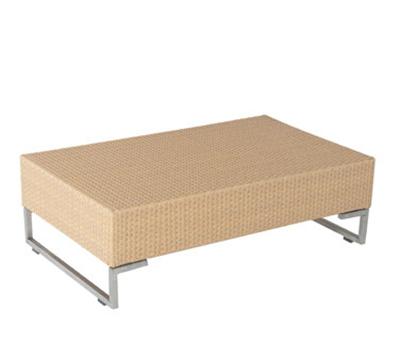 "EmuAmericas 6548 Luxor Outdoor Coffee Table - 39-1/2x24x12-1/2"" Wicker/Aluminum, Bronze-Finish"