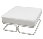 "Emuamericas 680 35"" Marcel Square Outdoor Ottoman/Low Table - Steel,"