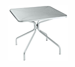 emu 800 ALU Cambi Table, 24 in Square, Steel Mesh Top, Aluminum