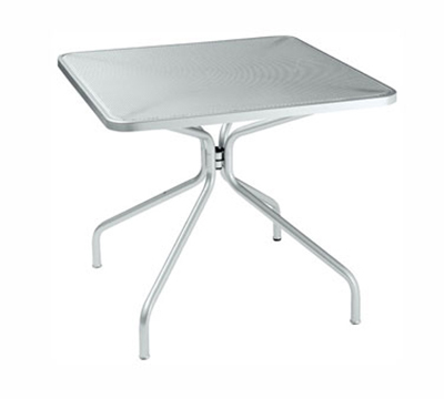 "emu 800 Cambi Table, 24"" Square, Steel Mesh Top, Bronze"