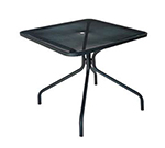 "emu 802 BLACK Cambi Table, 36"" Square, Umbrella Hole, Mesh Top, Black"
