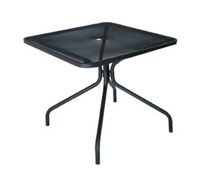 802 Cambi Table 36 in Square Umbrella Hole Mesh Top Black Restaurant Supply