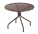 emu 804 BLACK Cambi Table, 42 in Diameter, Umbrella Hole, Mesh Top, Black