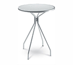 Emuamericas 820 ALU Cambi Bar Table, 32 in Diameter, Umbrella Hole, Mesh, Aluminum