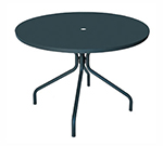emu 828 ALU Solid Table, 32 in Diameter, Umbrella Hole, Solid Top, Aluminum