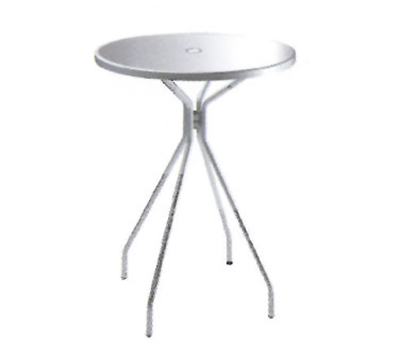 emu 830 Solid Bar Table, 32 in Diameter, Umbrella Hole, Solid Top, Iron