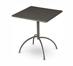 Emuamericas 851 Steel Segno Tilt Top Table, 24 in Square, Iron