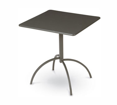 Emuamericas 851 BRONZE Steel Segno Tilt Top Table, 24 in Square, Bronze