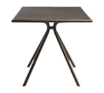 emu 860 Forte Table, 24 in Square, Adjustable, Mesh Top, Iron