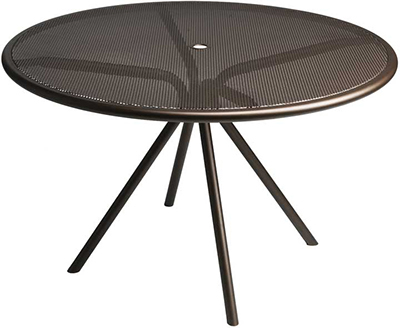 Emuamericas 864 BRONZE Forte Table, 42 in Diameter, Adjustable, Mesh Top, Bronze