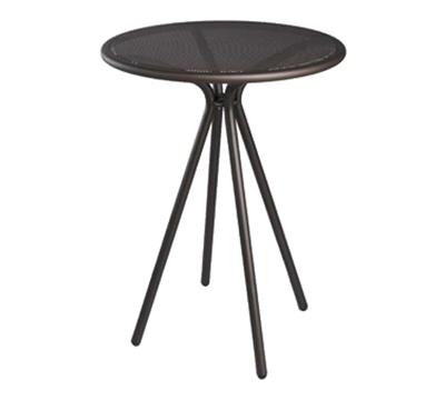 869 Forte Bar Table 32 in Diameter Adjustable Mesh Top Bronze Restaurant Supply