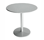 Emuamericas 900 ALU Bistro Table, 24 in Diameter, Solid Pedestal & Top, Aluminum