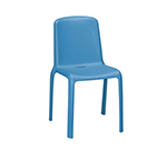 emu 9007 Milo Stacking Side Chair - Indoor/Outdoor, Polypropylene, White