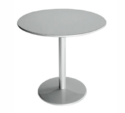 Emuamericas 900 BLACK Bistro Table, 24 in Diameter, Solid Pedestal & Top, Black