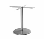 emu 902BL ALU Bistro Base, Tops Up To 36 D & 32 in Square, Dining H, Aluminum