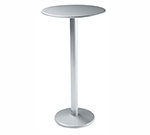 emu 900H BLACK Bistro Bar Table, 24 in Diameter, Solid Pedestal, Black