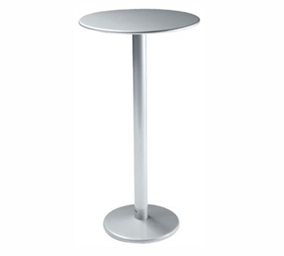 Emuamericas 902H ALU Bistro Bar Table, 32 in Diameter, Solid Pedestal, Aluminum