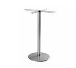 Emuamericas 900HBS ALU Bistro Table Base, For 24 in D Tops, Bar Height, Aluminum