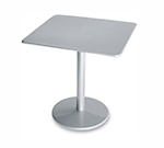 emu 901 ALU Bistro Table, 30 in Square, Solid Pedestal, Aluminum