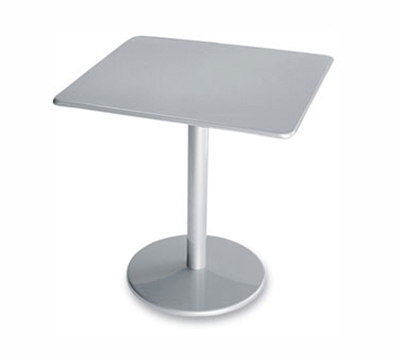 Emuamericas 901 ALU Bistro Table, 30 in Square, Solid Pedestal, Aluminum