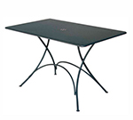 EmuAmericas 903 AIRON Classic Folding Table, 46 W x 30 in D, Iron