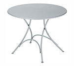 EmuAmericas 904 AIRON Classic Folding Table, 42 in Diameter, Iron