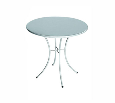 EmuAmericas 905 AIRON Kiss Table, 24 in Diameter, Solid Top, Iron