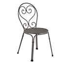 EmuAmericas 909 Pigalle Side Chair, Design Pattern, Bronze