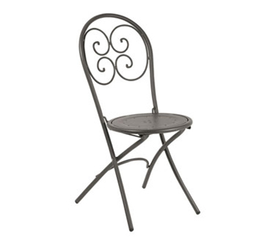 EmuAmericas 924 Pigalle Folding Chair, Design Pattern, Bronze