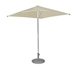 emu 980 6-1/2' Square-Top Shade Umbrella - Aluminum, Khaki