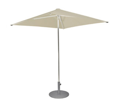 EmuAmericas 980 6-1/2' Square-Top Shade Umbrella - Aluminum, Black