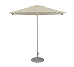 EmuAmericas 986 8-1/2' Hexagon-Top Shade Umbrella - Aluminum, Black